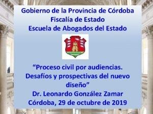 Gobierno de la Provincia de Crdoba Fiscala de