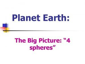 Planet Earth The Big Picture 4 spheres Planet