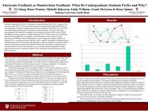 Electronic Feedback or Handwritten Feedback What Do Undergraduate