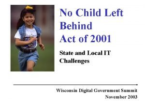 No Child Left Behind Act of 2001 State