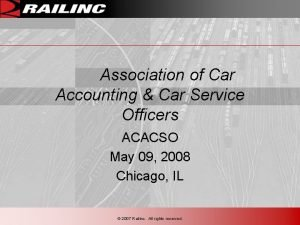 Association of Car Accounting Car Service Officers ACACSO