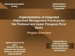 United Nations Environmental Programme Global Environmental Facility Implementation