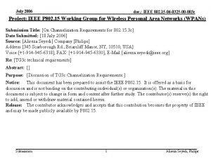 July 2006 doc IEEE 802 15 06 0325
