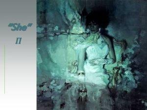 Jeremy Mann pintor estadounidense nacido en 1979 She