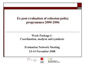 Ex post evaluation of cohesion policy programmes 2000