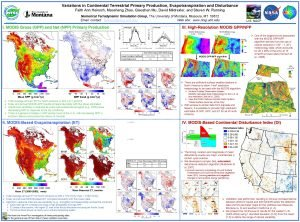 Variations in Continental Terrestrial Primary Production Evapotranspiration and