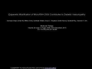 Epigenetic Modification of Micro RNA200 b Contributes to