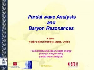 Partial wave Analysis and Baryon Resonances A varc