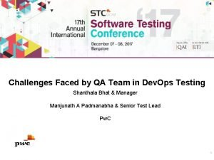 Challenges Faced by QA Team in Dev Ops