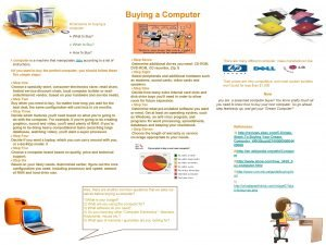 Buying a Computer v Decisions on buying a
