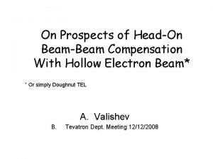On Prospects of HeadOn BeamBeam Compensation With Hollow