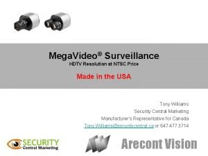 Mega Video Surveillance HDTV Resolution at NTSC Price