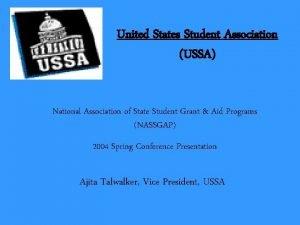 United States Student Association USSA National Association of