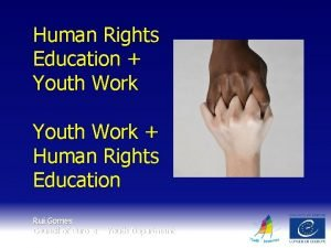 Human Rights Education Youth Work Human Rights Education