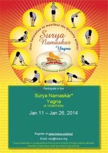 Participate in the Surya Namaskar Yagna A YOGATHON