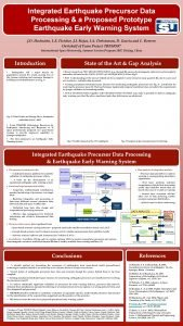 Integrated Earthquake Precursor Data Processing a Proposed Prototype
