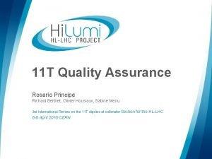 11 T Quality Assurance Rosario Principe Richard Berthet