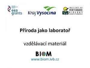 Proda jako laborato vzdlvac materil www biom ivb