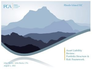 Rhode Island SIC Asset Liability Review Portfolio Structure
