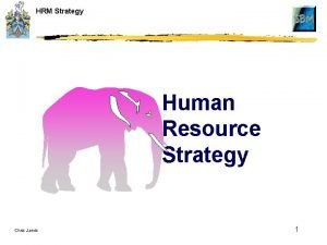 HRM Strategy Human Resource Strategy Chris Jarvis 1