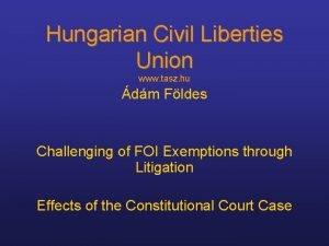 Hungarian Civil Liberties Union www tasz hu dm