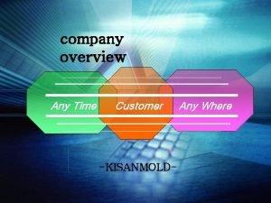 company overview Any Time Customer KISANMOLD Any Where