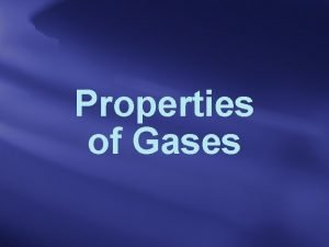 Properties of Gases Kinetic Theory of Gases 1