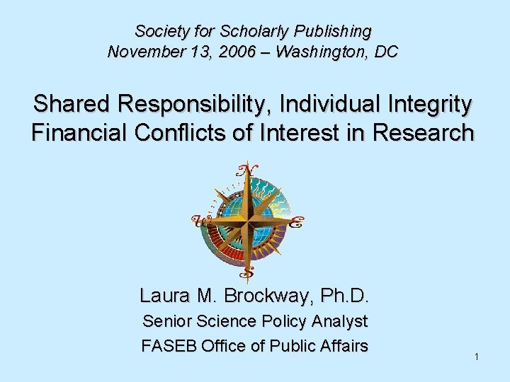Society for Scholarly Publishing November 13 2006 Washington