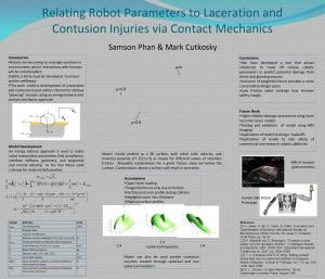 Relating Robot Parameters to Laceration and Contusion Injuries