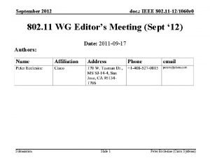 September 2012 doc IEEE 802 11 121060 r