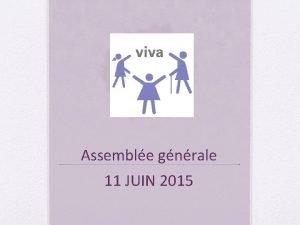 Assemble gnrale 11 JUIN 2015 Rapport de la
