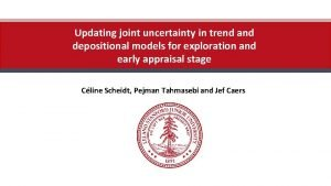 Updating joint uncertainty in trend and depositional models