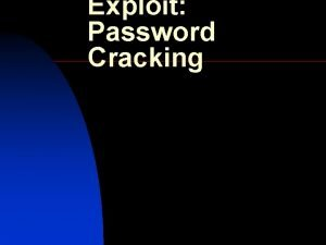 Exploit Password Cracking An Overview on Password Cracking