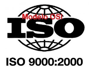 Modelo OSI Modelo ISO En 1978 International Standards