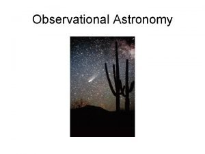 Observational Astronomy Astronomy from space Hubble Space Telescope