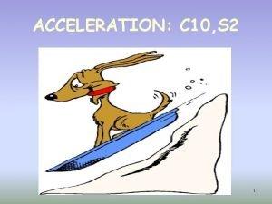 ACCELERATION C 10 S 2 1 ACCELERATION DEFINITION