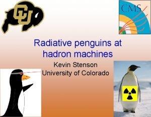 Radiative penguins at hadron machines Kevin Stenson University