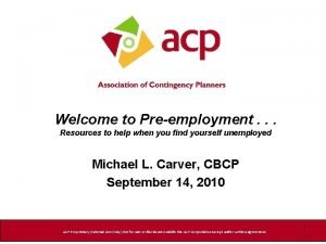 Welcome to Preemployment Resources to help when you