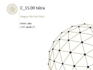 C15 00 tbla Magyar Nemzeti Bank Pintr Csilla