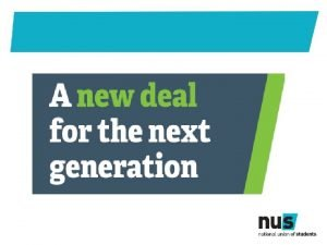 Shaping a new deal for education A new