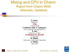 Mixing and CPV in Charm Report from Charm