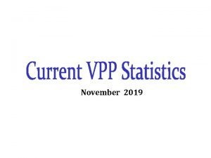November 2019 Growth of VPP Participants Federal Only
