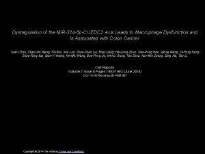 Dysregulation of the Mi R324 5 pCUEDC 2