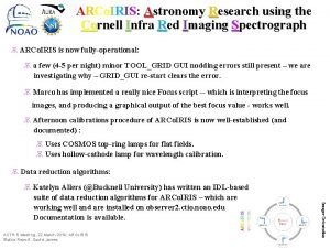 ARCo IRIS Astronomy Research using the Cornell Infra