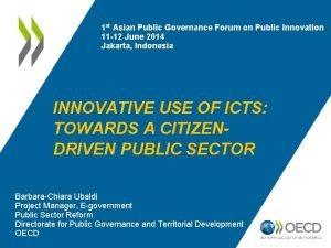 1 st Asian Public Governance Forum on Public