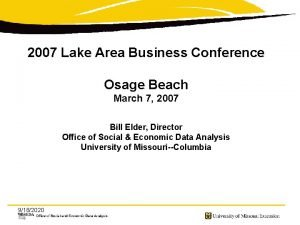 2007 Lake Area Business Conference Osage Beach March