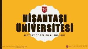 NANTAI NVERSTES HISTORY OF POLITICAL THOUGHT ktisadi dari