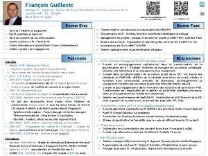 Franois Guillevic Manager SI Expert en Gestion de