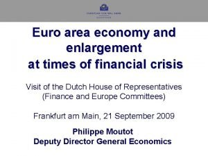 Euro area economy and enlargement at times of