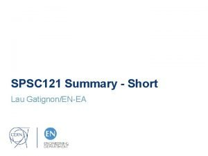 SPSC 121 Summary Short Lau GatignonENEA General News